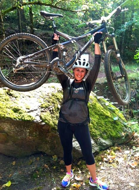 Conquering the Mt Biking.