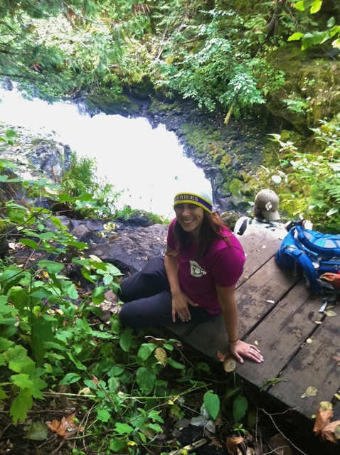 Hiking along the White Salmon, my favorite river.